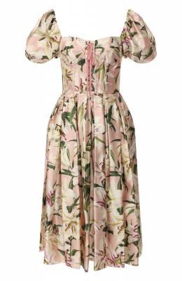 Шелковое платье Dolce&Gabbana F6E3TT/HS149