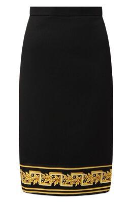 Шерстяная юбка Versace A83917/A220850