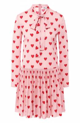 Платье с принтом Red Valentino SR3VAF80/49N