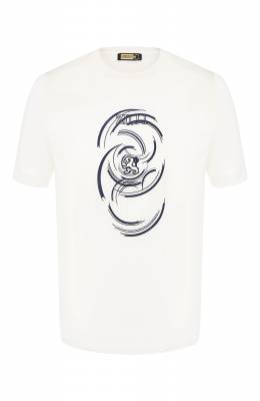 Хлопковая футболка Zilli MER-NT530-JEWI1/MC01