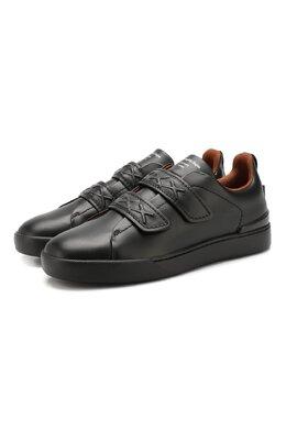 Кожаные кеды Zegna Couture A4294X-LHSWI
