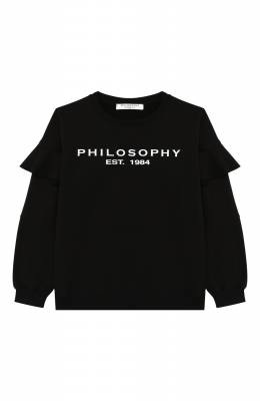Хлопковый свитшот Philosophy Di Lorenzo Serafini Kids PJFE18/FE147/UH002/XXS-XS