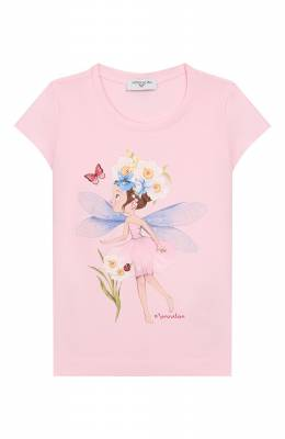 Хлопковая футболка Monnalisa 115604S8
