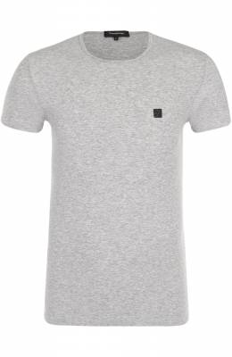 Хлопковая футболка с круглым вырезом Ermenegildo Zegna N2M200010