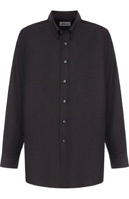 Хлопковая рубашка с воротником button down Brioni SCAA0L/0704F