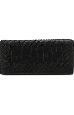 Портмоне из кожи крокодила с плетением intrecciato Bottega Veneta 120697/V00A5