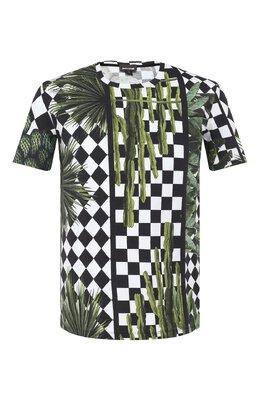 Хлопковая футболка Just Cavalli S03GC0521/N21407
