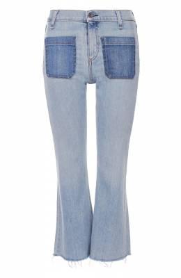 Укороченные расклешенные джинсы с бахромой Rag&Bone W1719K510PVA/PATCH VARICK