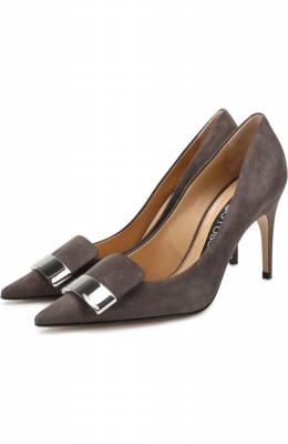 Замшевые туфли на шпильке Sergio Rossi A78953-MCAZ01