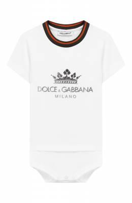 Хлопковое боди Dolce&Gabbana L1J09R/G7RZH