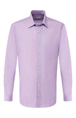Рубашка из смеси хлопка и льна Zilli MFT-02103-01190/RZ02