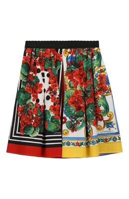 Хлопковая юбка Dolce&Gabbana L53I01/LA310/2-6