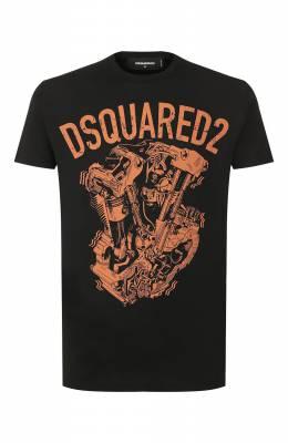 Хлопковая футболка Dsquared2 S74GD0636/S22427
