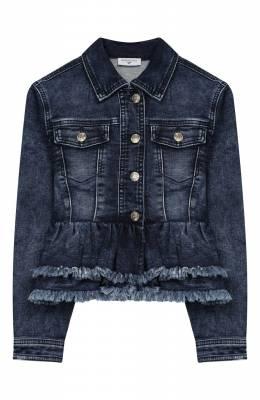 Джинсовая куртка с баской Monnalisa 193103R7