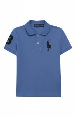 Хлопковое поло Polo Ralph Lauren 321703635