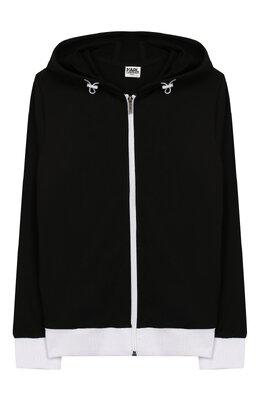 Хлопковый кардиган на молнии Karl Lagerfeld Kids Z25191/6A-12A