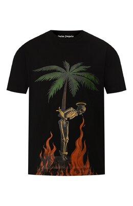 Хлопковая футболка Palm Angels PMAA001R204130341088