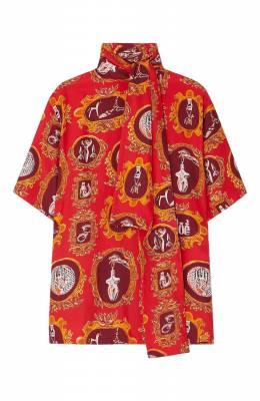 Шелковая блузка Chloe CHC19AHT53337