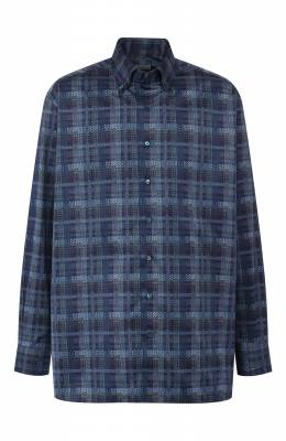 Хлопковая рубашка с воротником button down Zilli MFQ-MERCU-03411/RE01