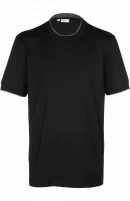 Хлопковая футболка с круглым вырезом Brioni UJ2Z/P4621