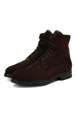 Замшевые ботинки Santoni MCC017072MI5YR0QT48