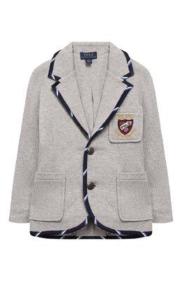 Хлопковый пиджак Polo Ralph Lauren 321749989