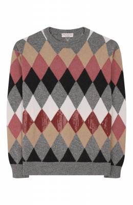 Пуловер из шерсти и кашемира Brunello Cucinelli B16181520A