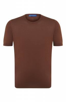 Шелковая футболка Andrea Campagna 43112/23503