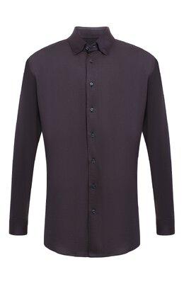 Рубашка из смеси шелка и кашемира с хлопком Zilli MFQ-10402-64019/RS01