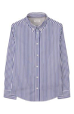Хлопковая рубашка Brunello Cucinelli BQ6613008B
