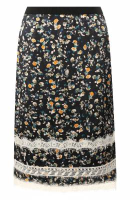 Шелковая юбка Dorothee Schumacher 449903/PASTEL FL0WERING