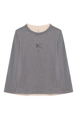 Хлопковый лонгслив Brunello Cucinelli B0T617537B