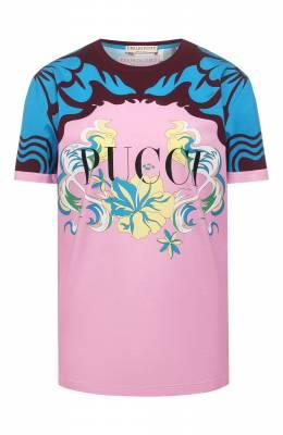 Хлопковая футболка Emilio Pucci 0EJP45/0E994