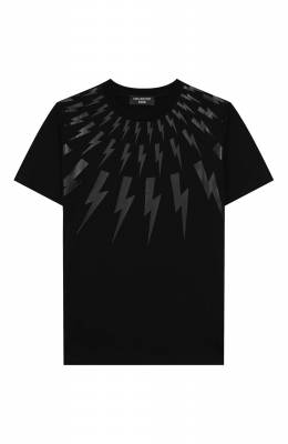 Хлопковая футболка Neil Barrett Kids 021381