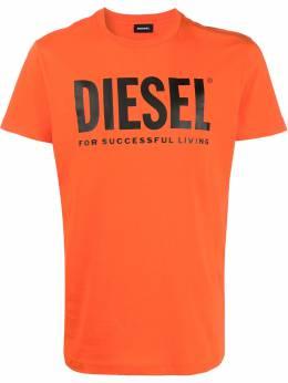 Diesel футболка с круглым вырезом и логотипом 00SXED0AAXJ