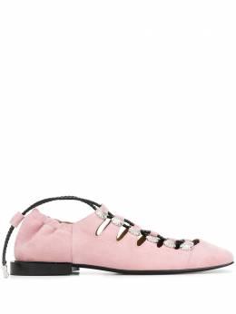 Toga Pulla балетки с заклепками и шнуровкой FTGPW103802302