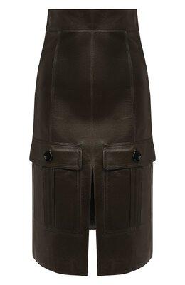 Кожаная юбка Chloe CHC19WCJ01209