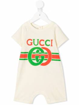 Gucci Kids комбинезон с принтом Baby Interlocking G 548144XJBCG