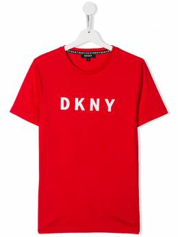 DKNY Kids футболка с логотипом D25C76977
