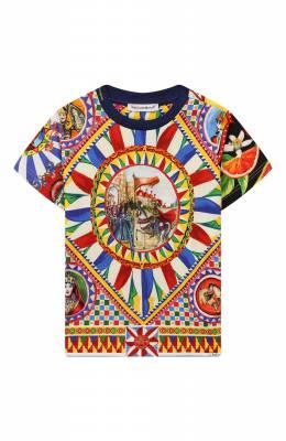 Хлопковая футболка Dolce&Gabbana L1JT7W/G7SFB