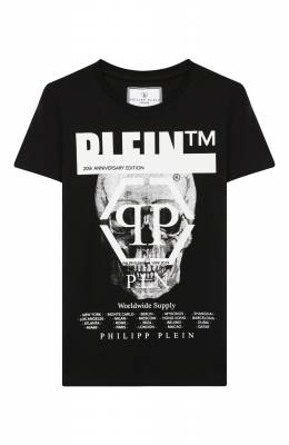Хлопковая футболка Philipp Plein BTK0745