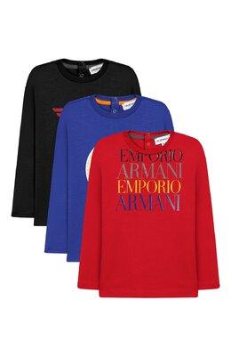 Комплект из 3-х лонгсливов Emporio Armani 6GHD01/4J09Z