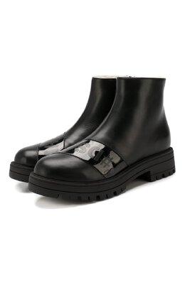 Кожаные ботинки с меховой отделкой Dsquared2 62374/28-35