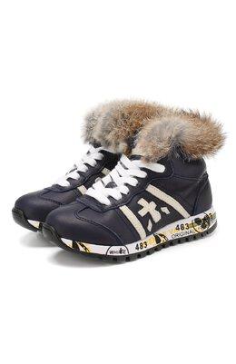 Кожаные кроссовки с меховой отделкой Premiata Will Be ADAM M L/1310/CHILD