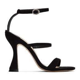 Sophia Webster Black Suede Rosalind Hourglass Sandals SPS20020