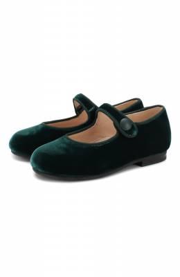 Бархатные туфли с перемычкой Il Gufo G296/VELLUT0 ACC0PP./23-26