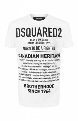 Хлопковая футболка Dsquared2 S74GD0594/S22507