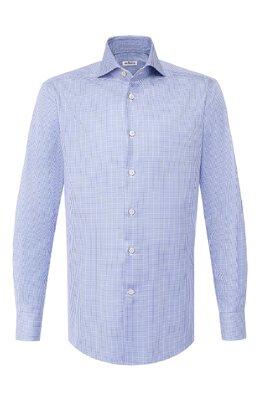 Хлопковая сорочка Kiton UCIH0693016