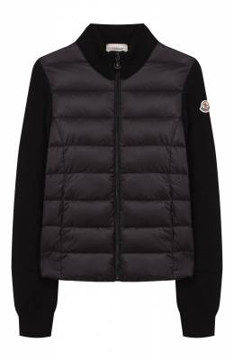 Шерстяная куртка с утеплителем Moncler Enfant E2-954-94531-05-9699C/8-10A
