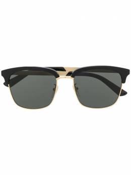 Gucci Eyewear солнцезащитные очки GG0697S в квадратной оправе GG0697S001